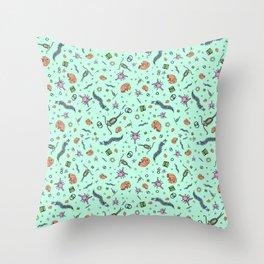 Microscopic Animals Throw Pillow