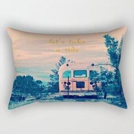 Let's Take a Ride Rectangular Pillow