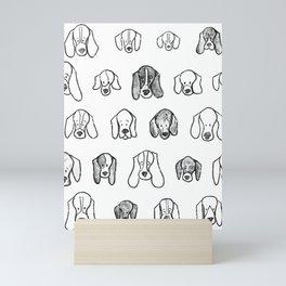 Hound Faces Mini Art Print