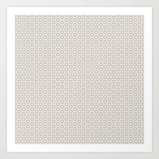 Hexagon Light Gray Pattern Art Print