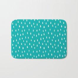 Turquoise Raindrops II Bath Mat