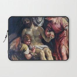 Paolo Veronese - Le Christ pleure par la Vierge et deux anges Laptop Sleeve