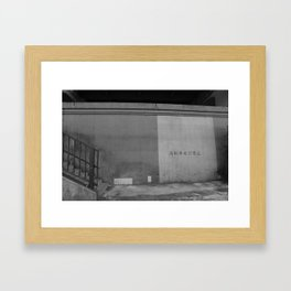 Kabe  - 壁 Framed Art Print