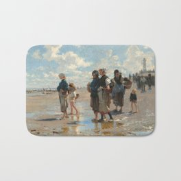 Setting Out to Fish Oil Painting by John Singer Sargent Bath Mat