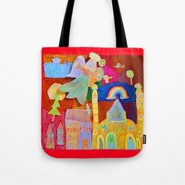 Rainbow Angel Tote Bag