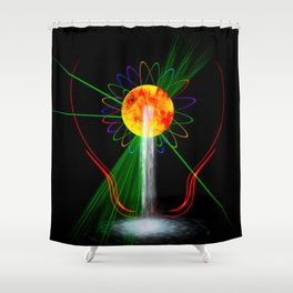 Light and water Shower Curtain