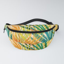 Golden Tropics / Abstract Tropical Illustration Fanny Pack