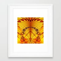pyramid Framed Art Prints featuring Pyramid by Christine baessler