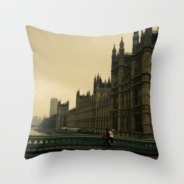 London Fog Throw Pillow
