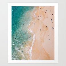 Busy Hawaii Beach Art Print