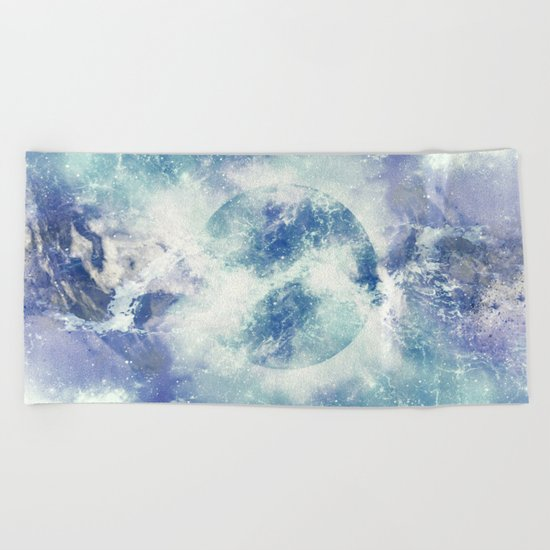 Universe Atoms Stories Beach Towel