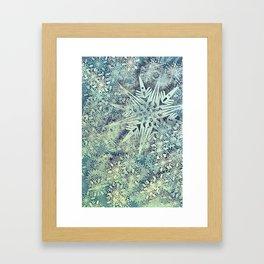 sea of flakes Framed Art Print