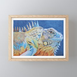 The brightly colored iguana Framed Mini Art Print