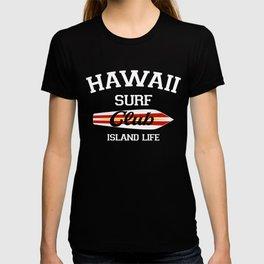 Hawaii Surf Club Vintage Retro Surfing Beach T-shirt