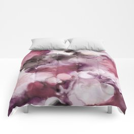 Organic Abstract in shades of plum Comforters
