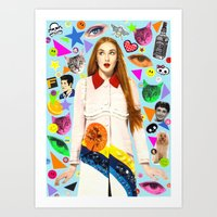 sansa stark Art Prints featuring Sansa by Neon Wonderland