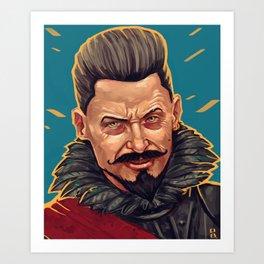 Blackbeard Art Print