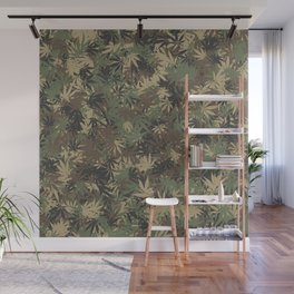 Weed camouflage Wall Mural