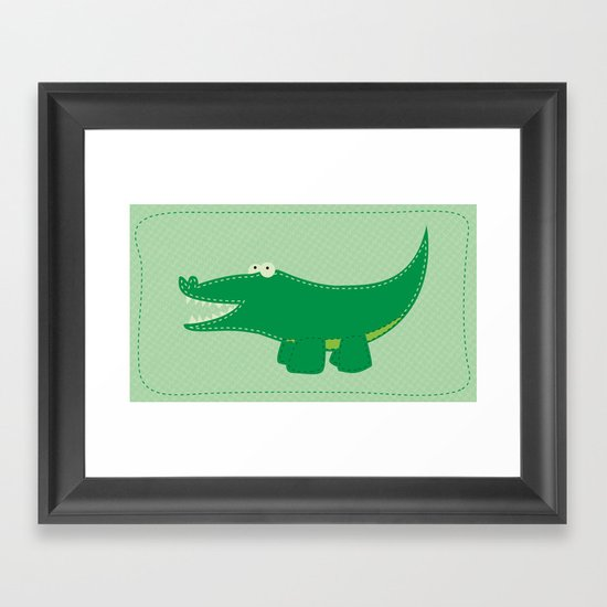 Alligator Framed Art Print