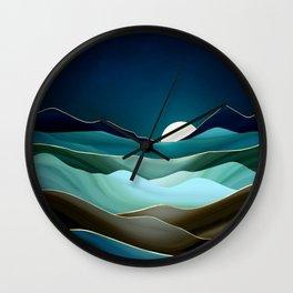 Moonlit Vista Wall Clock