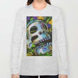 Psychedelic Flower Skull Long Sleeve T-shirt