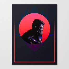 Star Lord 80's Charcter Poster Canvas Print