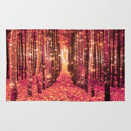 Magical Forest Pink Peach Rug