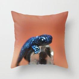Blue Dragon sculpture photograph Throw Pillow