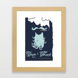 Zach Caddy Gig Poster Framed Art Print