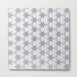 Multi Purple Pattern Design Metal Print
