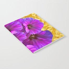 golden art purple garden bouquet art Notebook