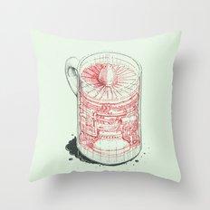 Coffee Jet Throw Pillow