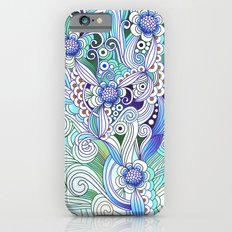 Flower fire, bright blues Slim Case iPhone 6s