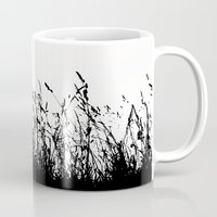 grass Mugs featuring grass by Ingrid Beddoes