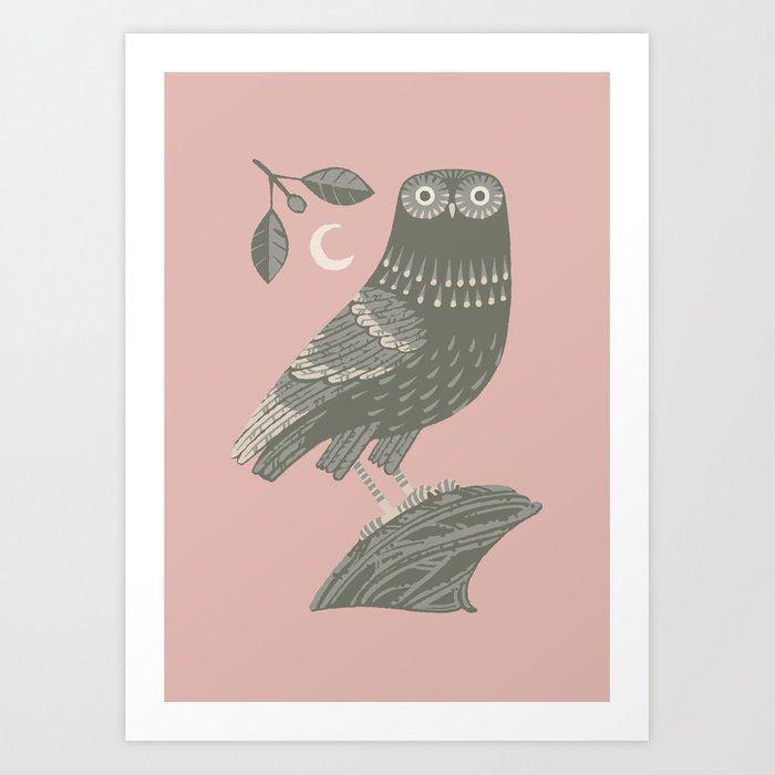 The Owl of Athena Art Print