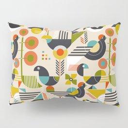 Bauhaus style birds Pillow Sham