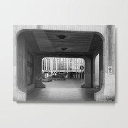 Asymmetrical Brutalist - Padua Metal Print