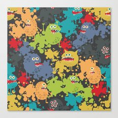 Funny microbes. Canvas Print