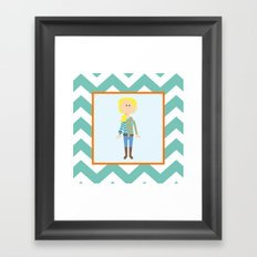 Fashionably Fallish! Framed Art Print