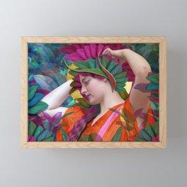 Pallas Athena Botanical Framed Mini Art Print