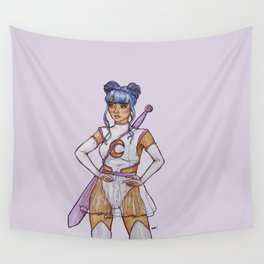 Magical Space Girl Wall Tapestry