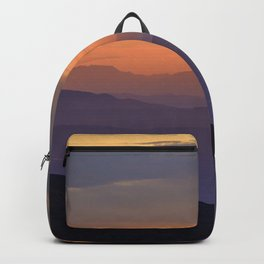 Sunset At The Mountains. Purple Dreams Backpack