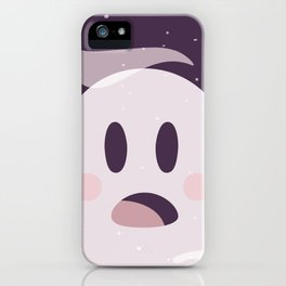Pink Surpried Ghost iPhone Case
