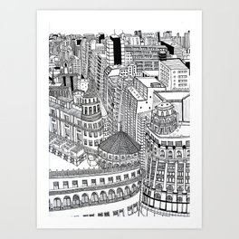 Domes of Buenos Aires Art Print