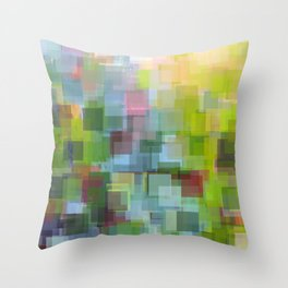 Abstract Grassy Field Throw Pillow