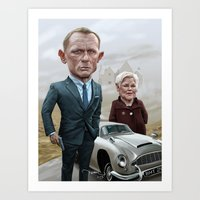 Skyfall James Bond - Daniel Craig Art Print