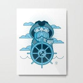 Ahab, Sea Captain Metal Print