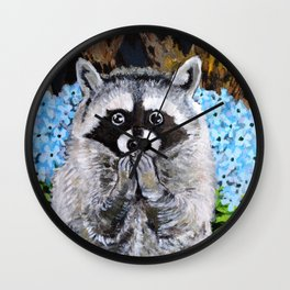 Mischief the Raccoon Wall Clock