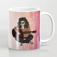 megan lara Mugs featuring Lara by Ilse Busschers