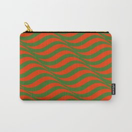 Red and Green Waves Carry-All Pouch